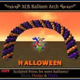 Balão Arch - Halloween - Preto, roxo, laranja - COPY - Balões Cidade Xntra