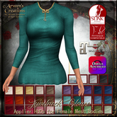{AS} Jewelneck Blouse Applier & Classic System Layers: 33 Colors; Slink, Maitreya, Omega; Bakes on Mesh (BoM) Compatible