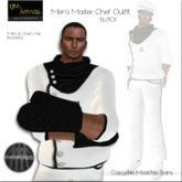 KJIm: Mens Master Chef Outfit - White/Black