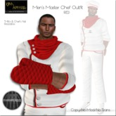 KJIm: Mens Master Chef Outfit - White/Red