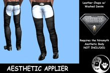 NP_Leather Chaps with Washed Denim v2 - Aesthetic - Lower