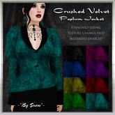 ~*By Snow*~ Crushed Velvet Peplum Jacket