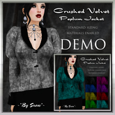 ~*By Snow*~ Crushed Velvet Peplum Jacket DEMO