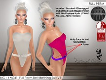 NC : #M041_Full Perm Belt Bathing Suit V1 for SL and Slink Physique Body