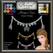 Beloved Jewelry : Mariposa Forehead Tiara (Texture Change) Choice of Silver, Platinum, Gold, 12 Gems, Butterfly