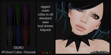 ~SongBird~ Wicked Collar - Damask