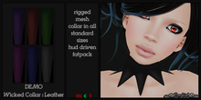 ~SongBird~ Wicked Collar - Leather