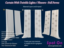 Spot On Curtain Panels - Twinkle Lights/Flowers - Full Perms