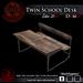 (Demo) Twin School Desk (Box)