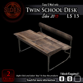 Twin School Desk (BOX)