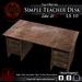 Simple Teacher Desk (BOX)