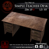 Simple Teacher Desk (BOX)