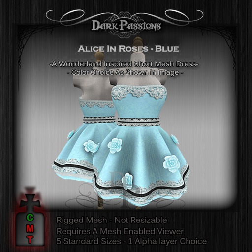 DEMO - Dark Passions - Alice in Roses (5 Standard Sizes)