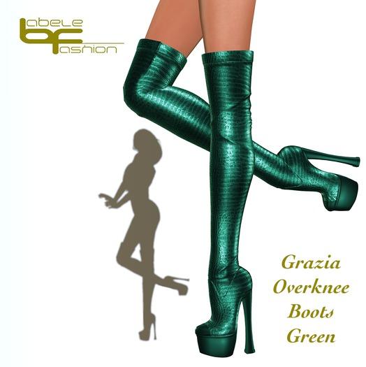 Babele Fashion :: Grazia Overknee Boots Green