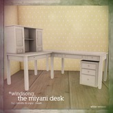 *windsong. ; the miyani desk { white }