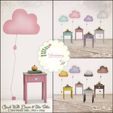 *windsong. ; cloud & side table decor { pastels pack }