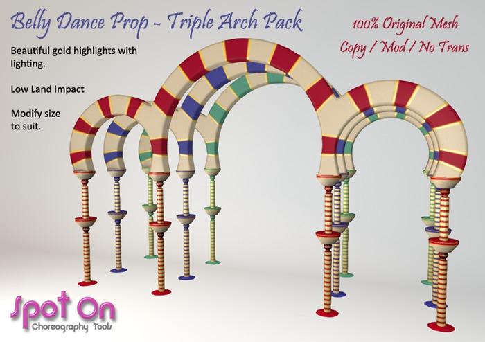 Spot On Belly Dance Prop - Triple Arch Pack