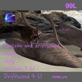 Mesh Raccoon & driftwood (Crate)