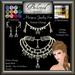 Beloved Jewelry : Mariposa Set (Texture Change Earrings, Necklace, Tiara) Choice of Metals/12 Gems. Amethyst. Butterfly.