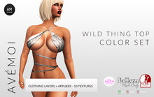 .:: AM ::. Wild Thing Sexy Top Texture Pack + Appliers for TMP - Belleza - Slink