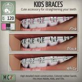 ButtonJar - Kids Braces (Pink, Black, White) - MESH