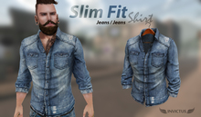 INVICTUS - Slim Fit Shirt. - Jeans /  Jeans