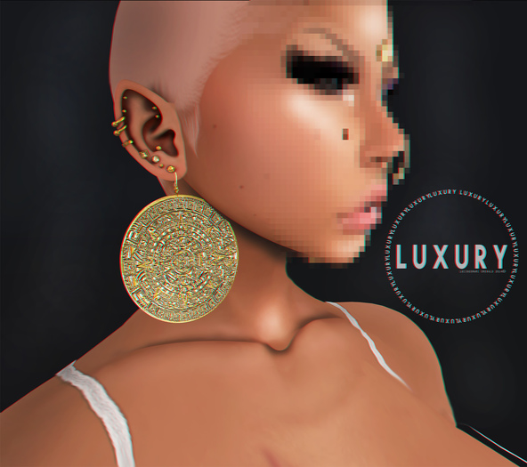 [LX] Mayan Earrings Gold