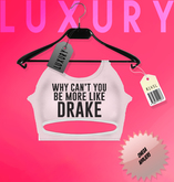 [LX] Luxury Tee Drake White