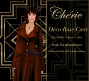 Deco Rose Coat - Amber