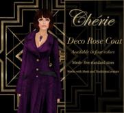 Deco Rose Coat - Royal