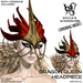 Wicca's Wardrobe - Dragon Queen Headpiece [Red/Gold] [BOXED]