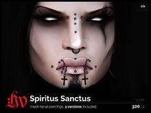 :HV: Spiritus Sanctus [Mid+Side Crosses, Ink] Unisex
