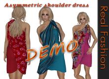 REAL FASHION Asymmetric shoulder dress - DEMO