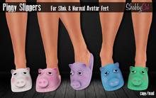~Shabby Cat Piggy Slippers~ pink