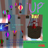 """""""UP"""" MINI HOT AIR BALLOONS IN MOTION (CRATE)"""