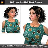 A&A Joanina Hair Dark Brown (Special Color). Classic soft-curled womens hairstyle