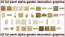 42 full perm wooden decoration fence , gates , etc  graphics