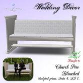 Church Pew (seats 4) - Bleached [LI 7]