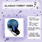Alaskan Ferret Mods - Maned Wolf Head - Fox - Blue