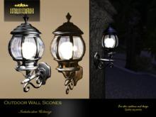 Invidah* Outdoor Wall Scones