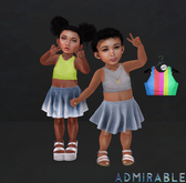 Admirable. Cropped Tanks (Pack2)