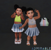 Admirable. Cropped Tanks (Pack3)