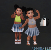 Admirable. Cropped Tanks (Pack1)
