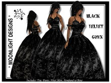 *MD* Black Velvet Gown