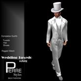 Tuxedo Long Tail WHITE - Pierre Styles