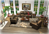 Copper Leather and Distressed Wood Living Set Mesh COPY