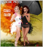 .::f  tiche petite::. Feather Corset Dress Angel & Devil(xs-xl)