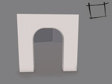 WC Full Perm Mesh Arched Wall - Builder's Kit
