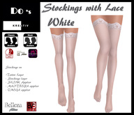 .:Do's:. Stockings with lacy  WHITE  (VMM)