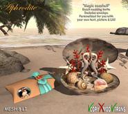 "Aphrodite wedding invite ""Seashell"" example (open)"